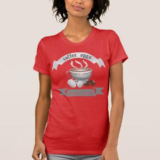 T-shirt oeufs de café