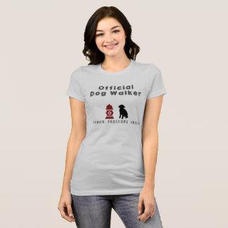 T-shirt officiel de marcheur de chien
