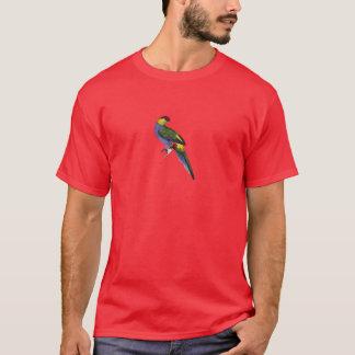 T-shirt Oiseau de perroquet de perruche couvert par rouge