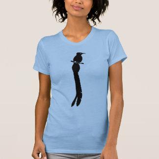 T-shirt Oiseau noir de graphique de silhouette de paradis