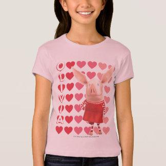 T-shirt Olivia - arrière - plan de coeur