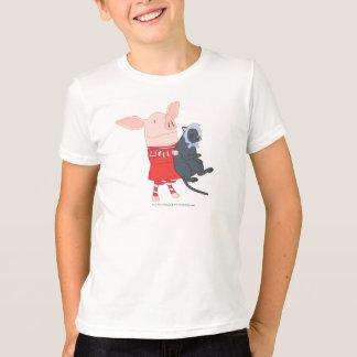 T-shirt Olivia tenant Edwin le chat