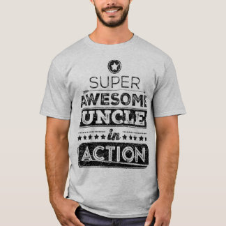 T-shirt Oncle impressionnant superbe In Action (style de