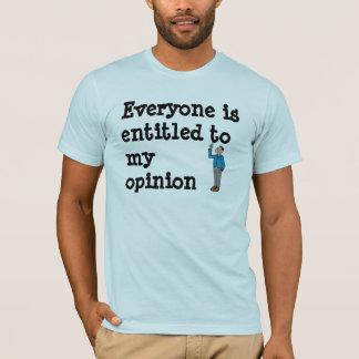 T-shirt opinion