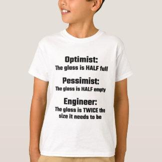 T-shirt Optimiste, pessimiste, ingénieur