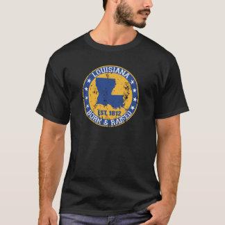 T-shirt or bleu augmenté soutenu par Louisiane