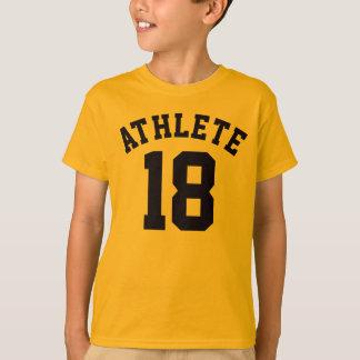 T-shirt Or et conception du Jersey de sports des enfants |