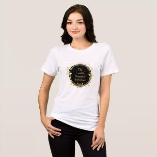 T-shirt Or individuel terrible de TBI bel sur le noir