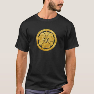 T-shirt Or samouraï japonais de faux de clan de Sakai