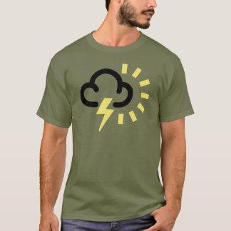 T-shirt Orage : Rétro symbole de prévisions