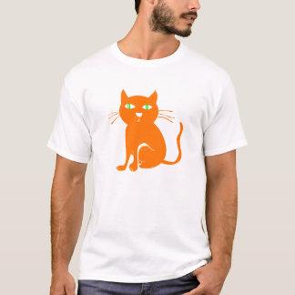 T-shirt orange de Halloween de chat (enfant en bas