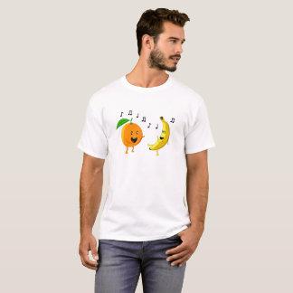 T-shirt Orange et banane de danse