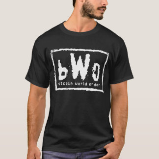 T-shirt Ordre mondial de Bitcoin