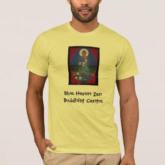T-shirt organique de héron de centre bleu de