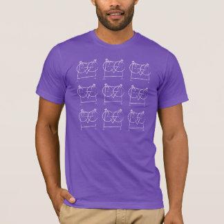 T-shirt organique de hibou géométrique