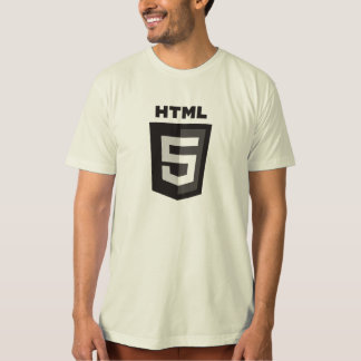 T-shirt organique de HTML 5