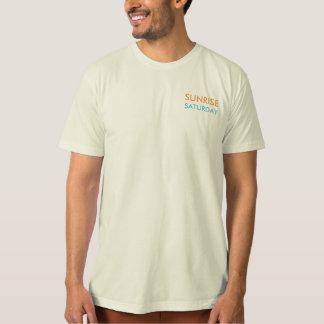T-shirt organique de lever de soleil