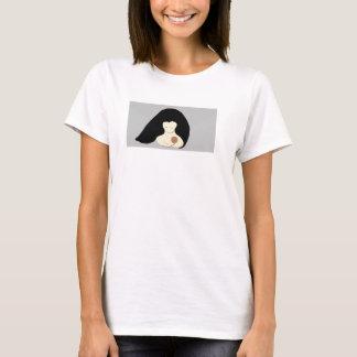 T-shirt organique de mère et d'enfant