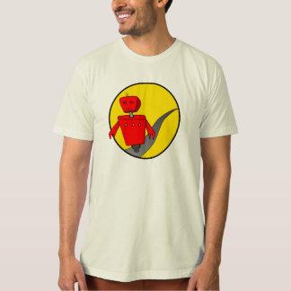 T-shirt organique de robot de l'emballement des