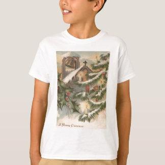 T-shirt Ornement de bougie d'arbre de Noël de houx