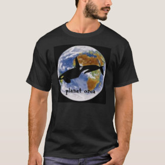 T-shirt orque de planète