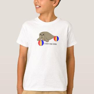 T-shirt Otarie avec des ballons de plage