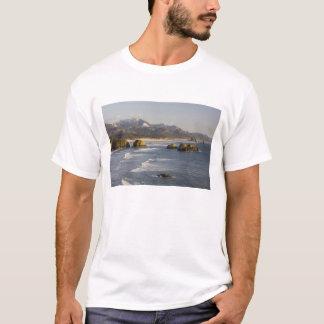 T-shirt OU, côte de l'Orégon, parc d'état d'Ecola, vue de