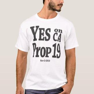 T-shirt Oui sur l'appui vertical 19 - noir