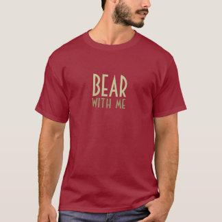 T-shirt Ours avec moi - rouge foncé