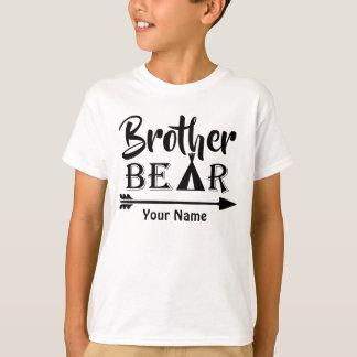 T-shirt Ours de flèche de frère personnalisé