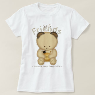 T-shirt Ours de miel mignon de meilleurs amis