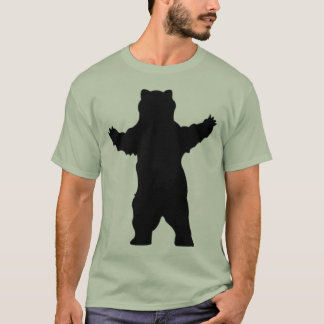 T-shirt ours gris de silhouette