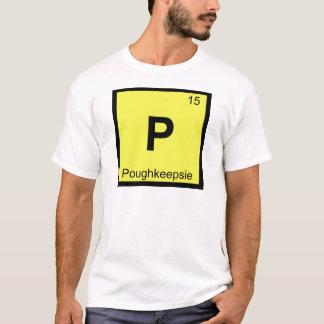 T-shirt P - Tableau périodique de chimie de Poughkeepsie