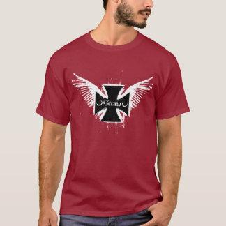 T-shirt Paille : Rouge foncé de logo