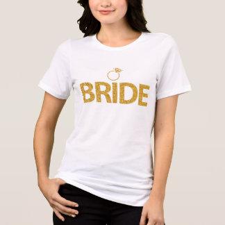 T-shirt Paillettes Bachelorette d'or de chemises de jeune