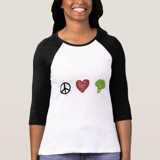 T-shirt Paix, amour, et brocoli