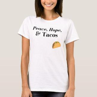 T-shirt Paix, espoir, et chemise de tacos
