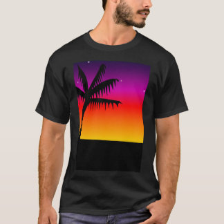 T-shirt Palmier de silhouette