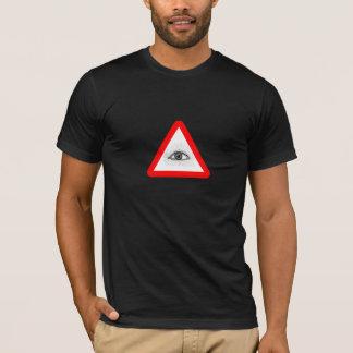 T-shirt panneau d'avertissement d'illuminati