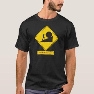 T-shirt Panneau routier de Sisyphus