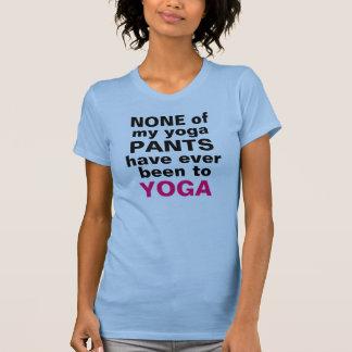 T-shirt Pantalon de yoga - aucun yoga
