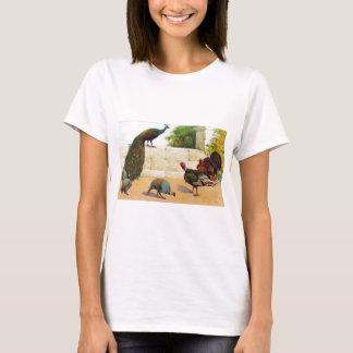 T-shirt Paon, la Turquie, et pintade