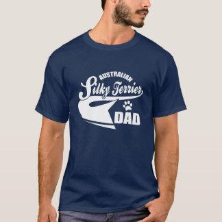 T-shirt papa australien de terrier soyeux