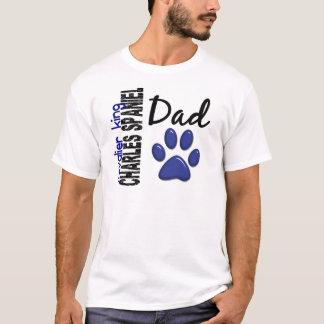 T-shirt Papa cavalier 2 d'épagneul du Roi Charles