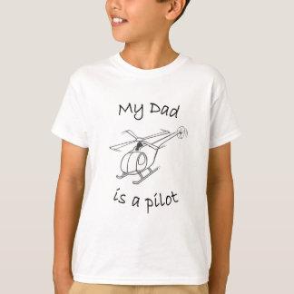 T-shirt-Papa de l'hélicoptère de l'enfant T-shirt