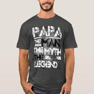 T-shirt Papa l'homme le mythe la grunge de légende