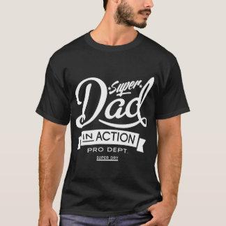 T-shirt Papa superbe dans l'obscurité d'action