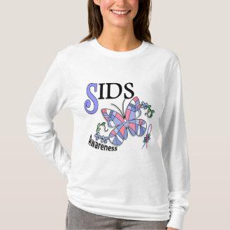 T-shirt Papillon 2 SIDS en verre souillé