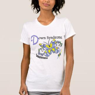 T-shirt Papillon 2 syndrome de Down en verre souillé