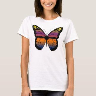 T-shirt Papillon de coucher du soleil